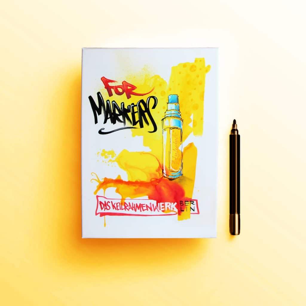 ForMarkers Kunstwerk mit Markern und Aquadrops